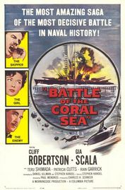 Battle of the Coral Sea poster Cliff Robertson Lt. Comdr. Jeff Conway