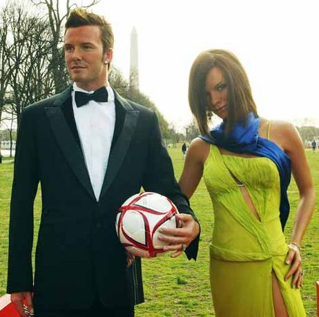 Your Chance To Kiss A Waxed David and Victoria Beckham