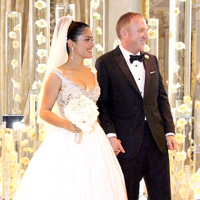 salma hayek husband and daughter. Salma Hayek Wedding Photo