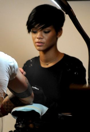 The ink-lovin' R&B pop star was snapped taking tattoo lessons at East Side