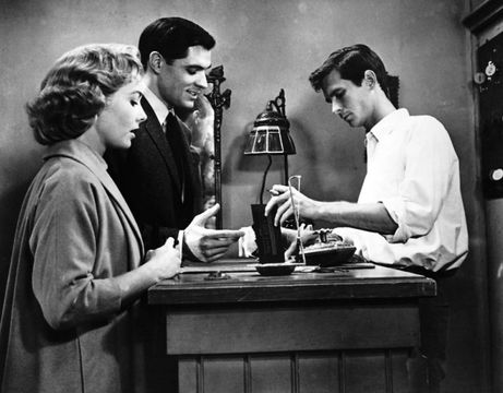 Vera Miles, John Gavin and Anthony Perkins