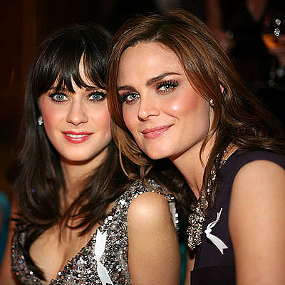 Emily Deschanel Sister. Zooey amp; Emily Deschanel Team