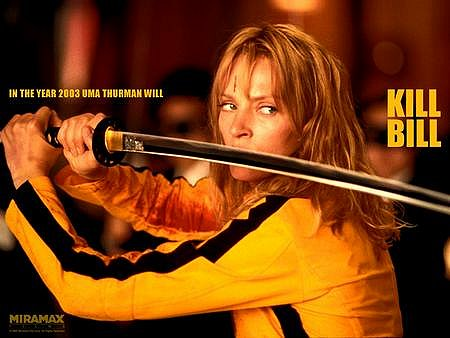 In the year 2003(4) Uma Thurman will KILL BILL!
