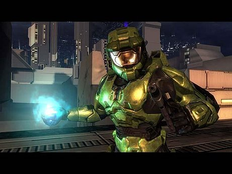This is Master Chief from Halo, one of the best video games of all time.