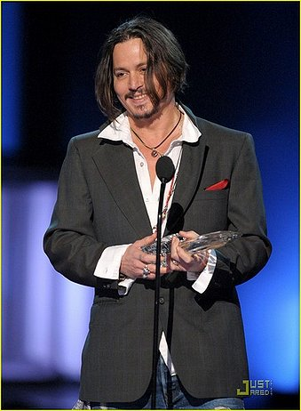 Johnny wins Favorite Male Actor and Favorite Actor of the Decade