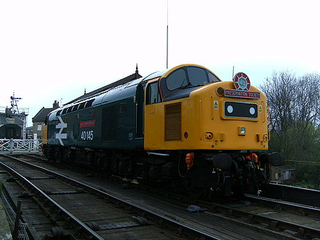 A class 40 at wansford station