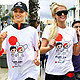 Dianna Agron Runs to Help Japan With Paris Hilton