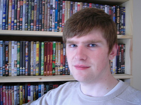 Here's a more updated picture of me and my DVD collection.