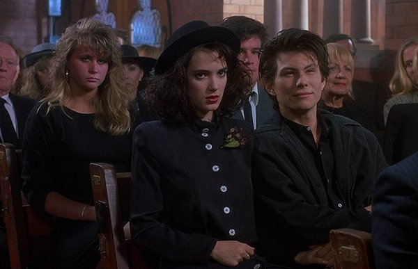 Winona Ryder and Christian Slater in Heathers.