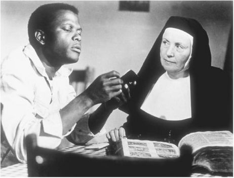 Poitier and Skala in Lilies of the Field
