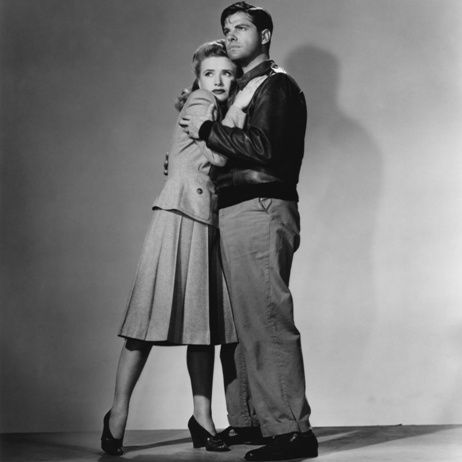 Robert Cummings and Priscilla Lane