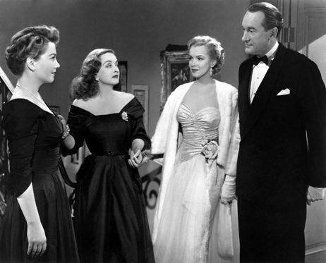 Anne Baxter, Bette Davis, Marilyn Monroe and George Sanders