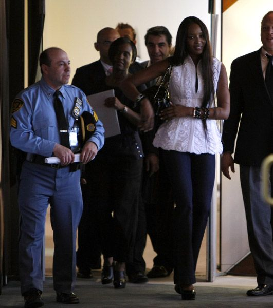Naomi Campbell Visits The United Nations - April 22, 2008
