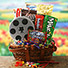 Double Feature movie themed gift basket